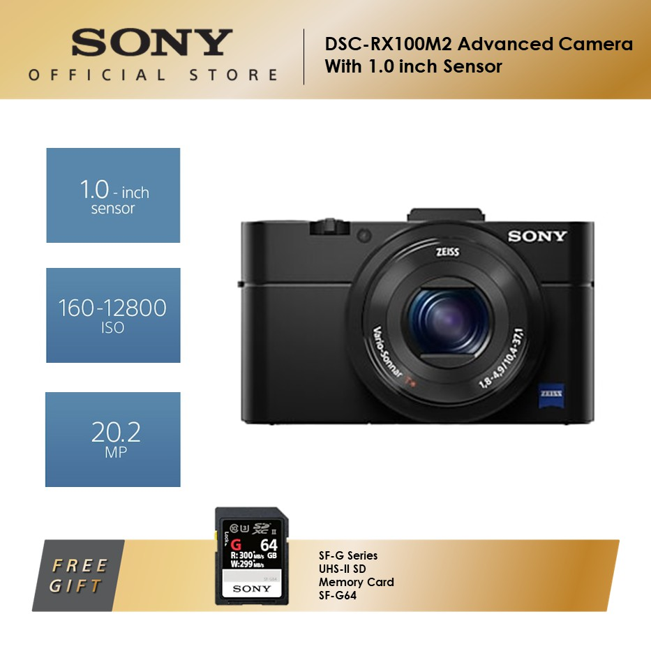 Sony DSC-RX100M2 Advanced Camera with 1.0-Type Sensor