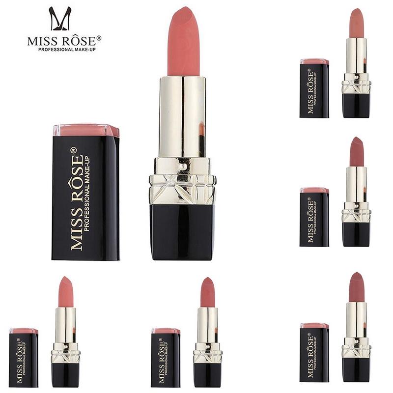 Miss Rose Long-lasting Matte Lipstick Set, 12 PCS Multi