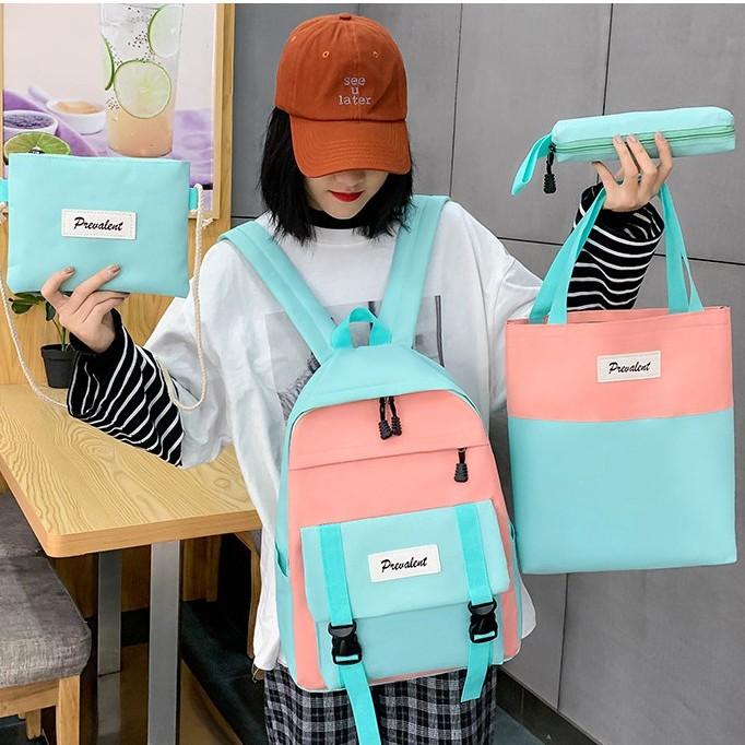 Student Colourful Backpack Lelaki Perempuan Beg Set 学生彩色背包 BP0011