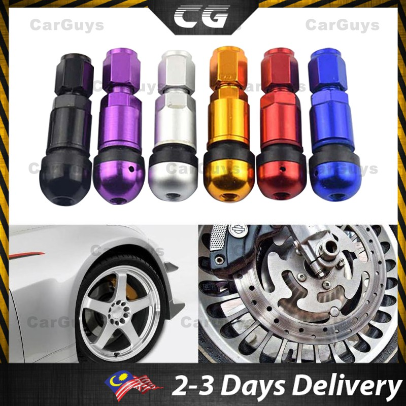 4 Pack Aluminum Alloy Car Tubeless Wheel Tire Valve Stems Dust Caps Purple
