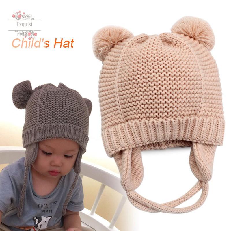 Cotton Warm Baby Toddler Boy//Girl Beanie Cap Hat Cap Crochet Knitted Cap