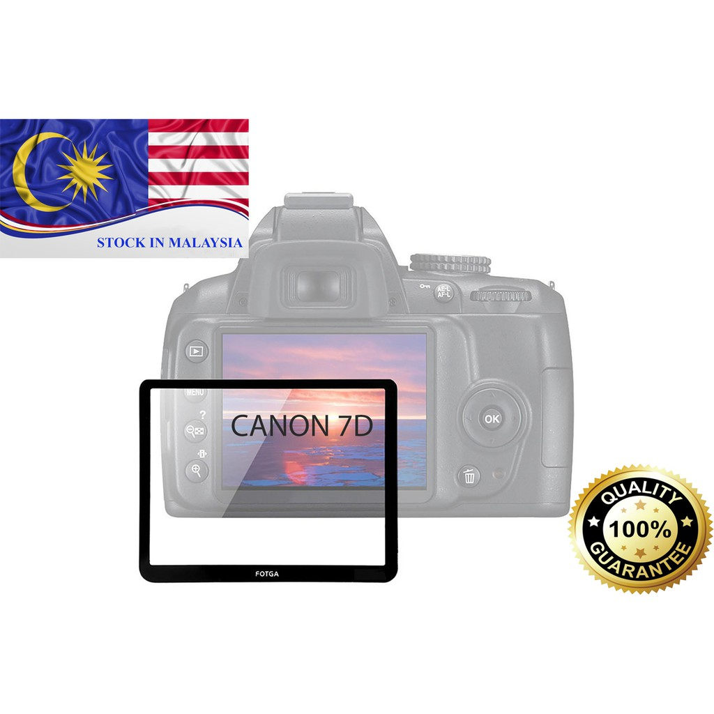 Fotga 0.5mm Premium LCD Screen Protector Glass For Canon EOS 7D (Ready Stock In Malaysia)