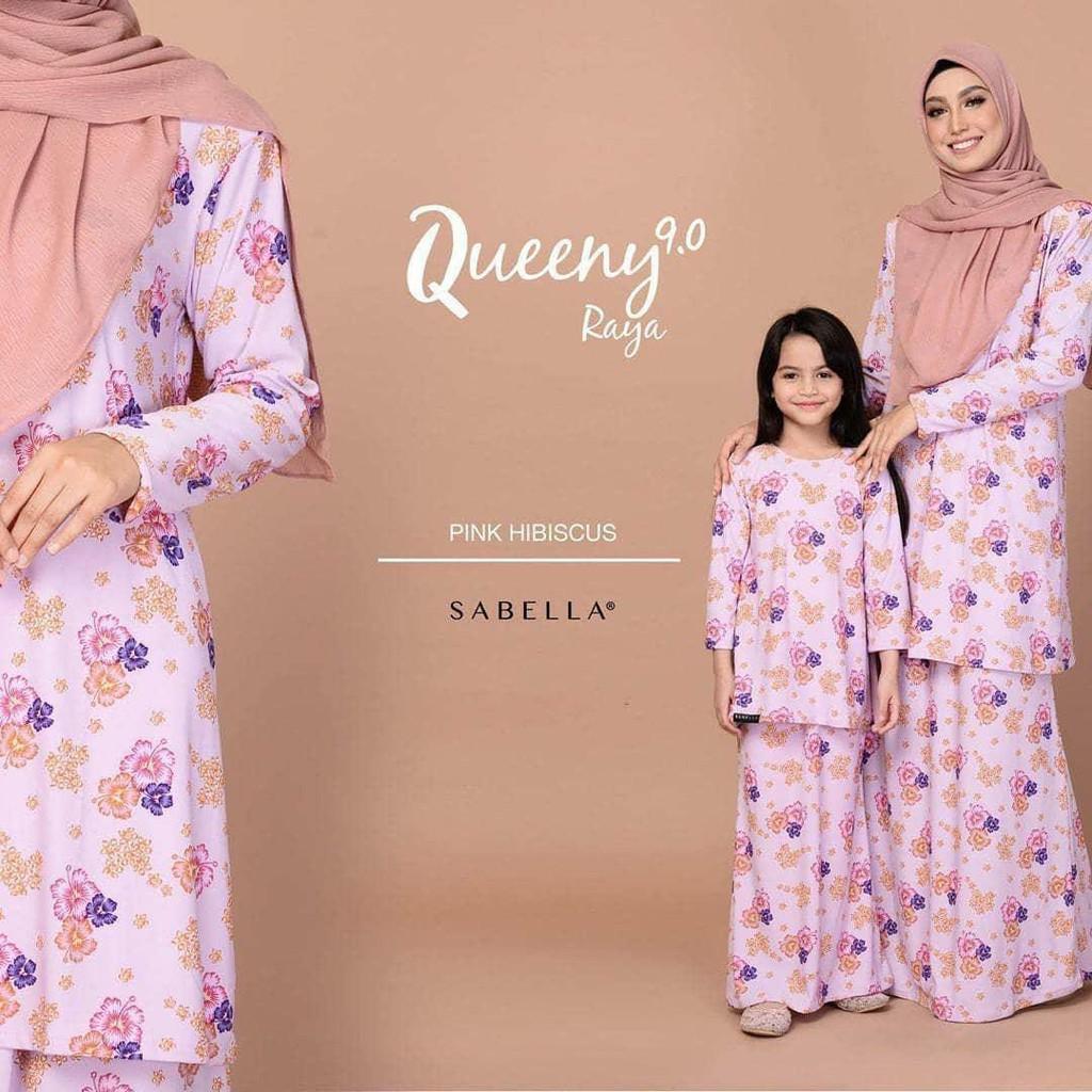 Sabella Queeny Kurung  Size (XL,2XL,3XL) [Ready Stock]