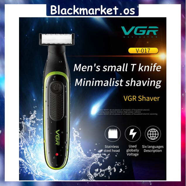 VGR V-017 Rechargeable Electric Shaver USB Charging Razor Small T Knife for Male and Female Hair Trimmer
