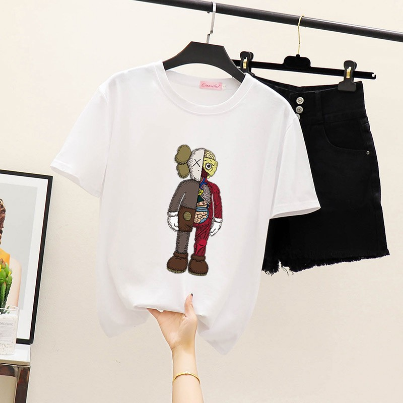 hot Shirt Loose Spring and Summer New Korean Version of The Student Ultra Fitting T-Shirt