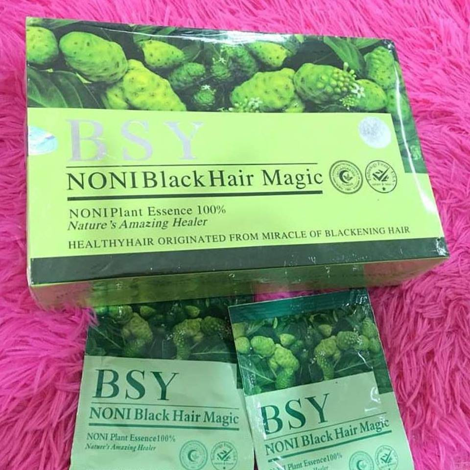 BSY Noni Black Hair Magic Organic Dye Shampoo 100% ORIGINAL (20 Sachet) | Shopee Malaysia