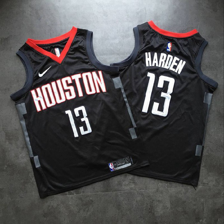 brand new ef8ca 7f0ee Houston Rockets #13 James Harden Dense embroidery New Jersey
