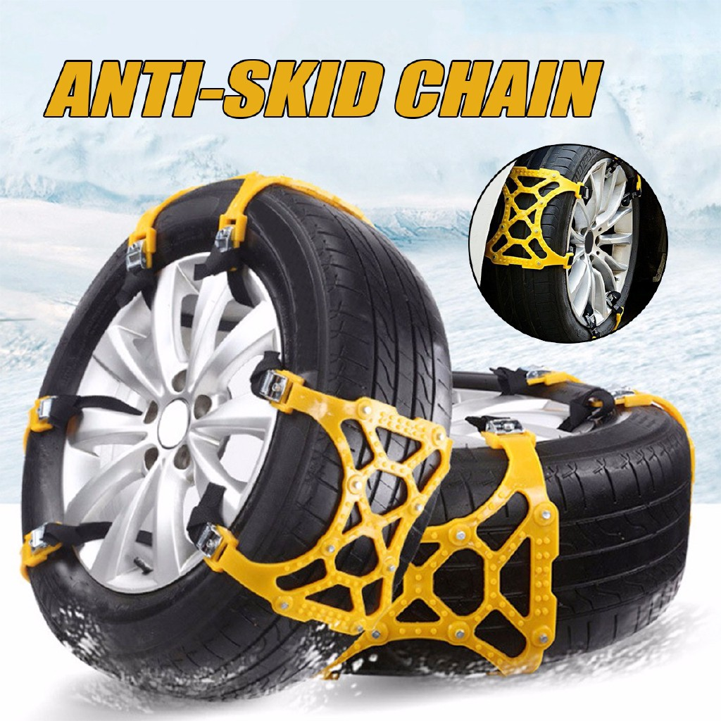 Car Truck Anti-skid Snow Tyre Tire Wheel Chain Beef Tendon Nylon Strap Belt NEW