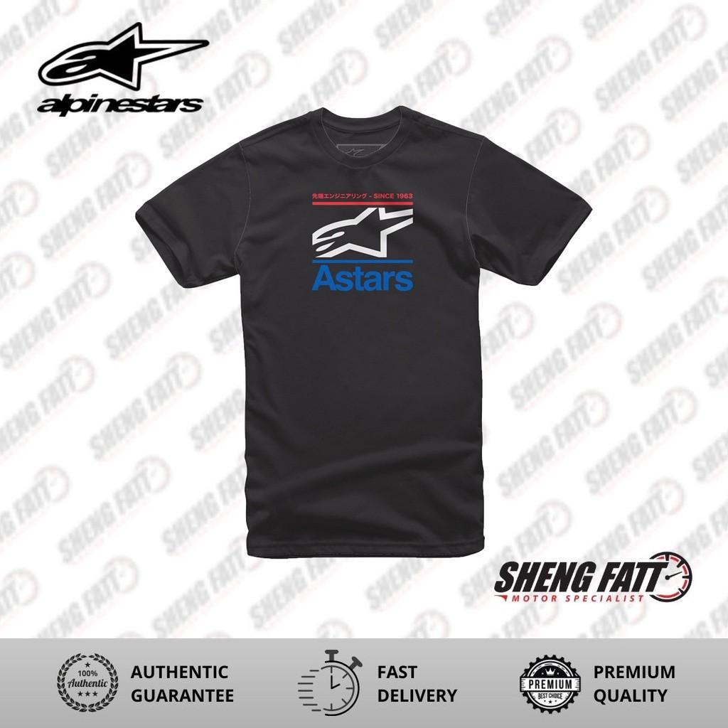 Alpinestars Cropped Tee Casual Unisex T-shirt (Black)