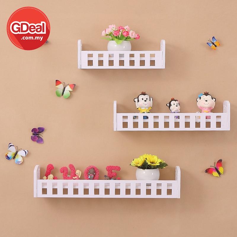GDeal Cat Design Wall Mounted Shelf Flower Shelf Holder Decor Rak Dinding رق دينديڠ