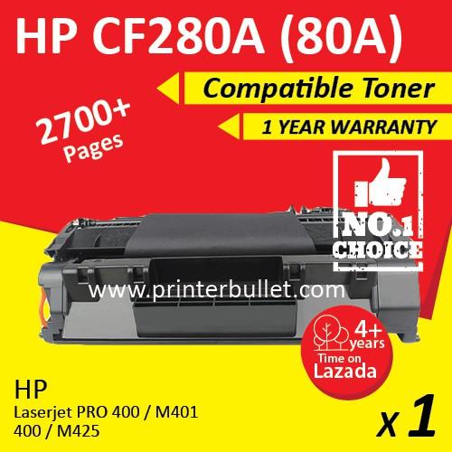 HP CF280A / 80A Compatible Laser Toner Catridge For HP 400 M401d / M401dn