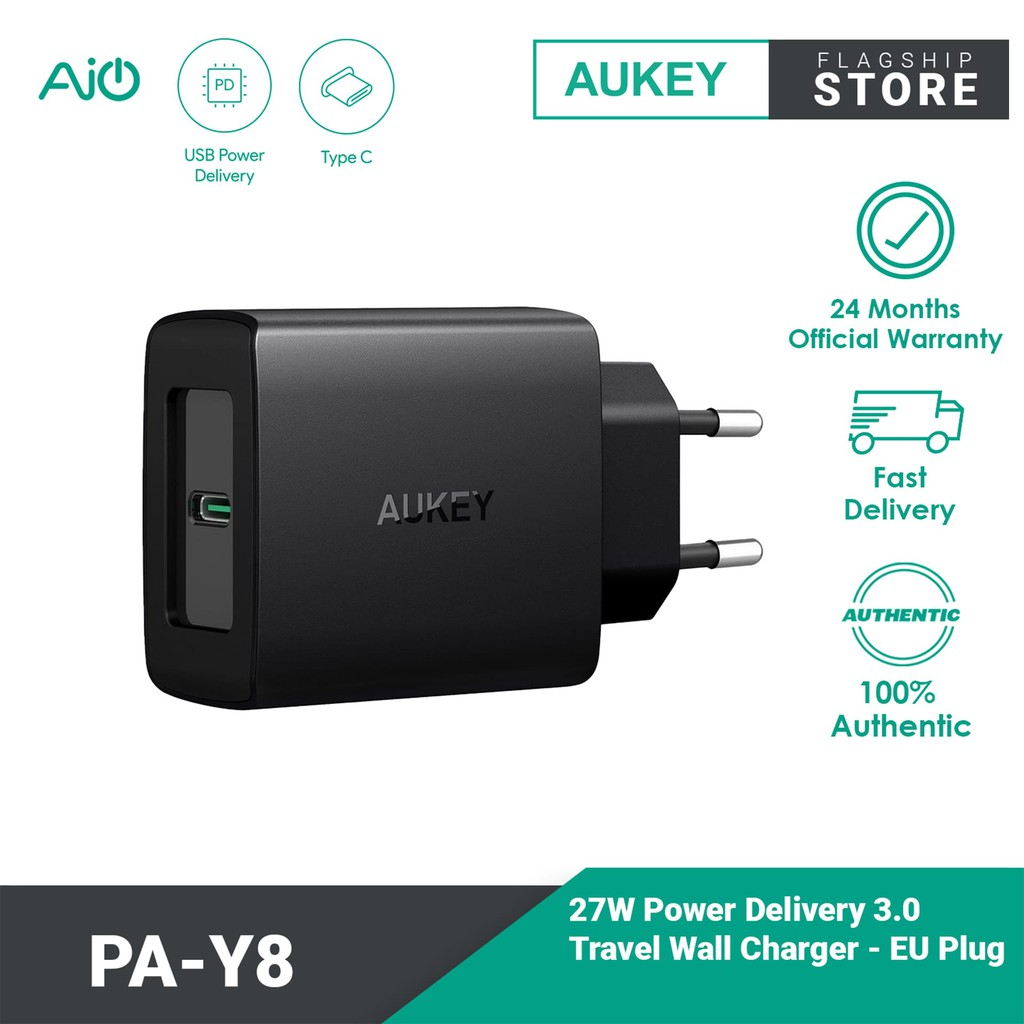 Aukey PA-Y8 Power Delivery 3.0 Charger (27W)