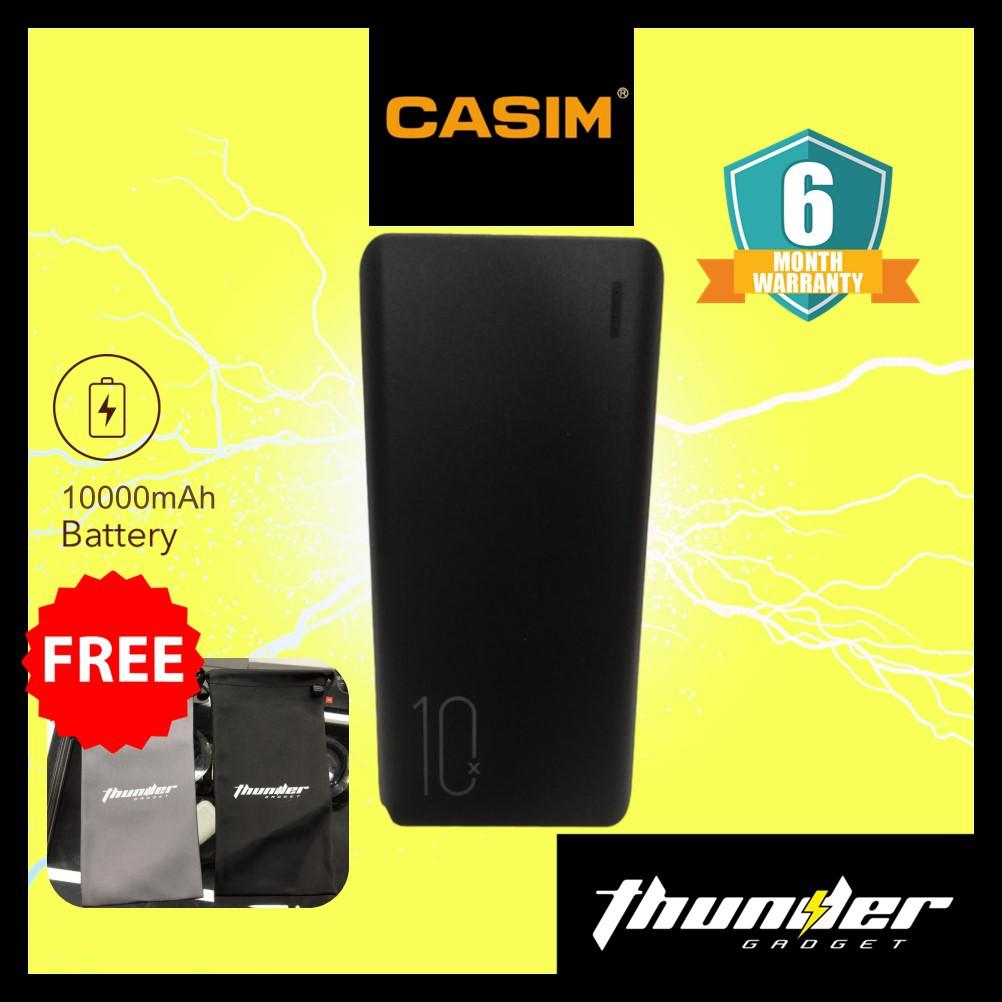CASIM ZT-P11 10000 mAh Ultra -Thin Powerbank BLACK/WHITE