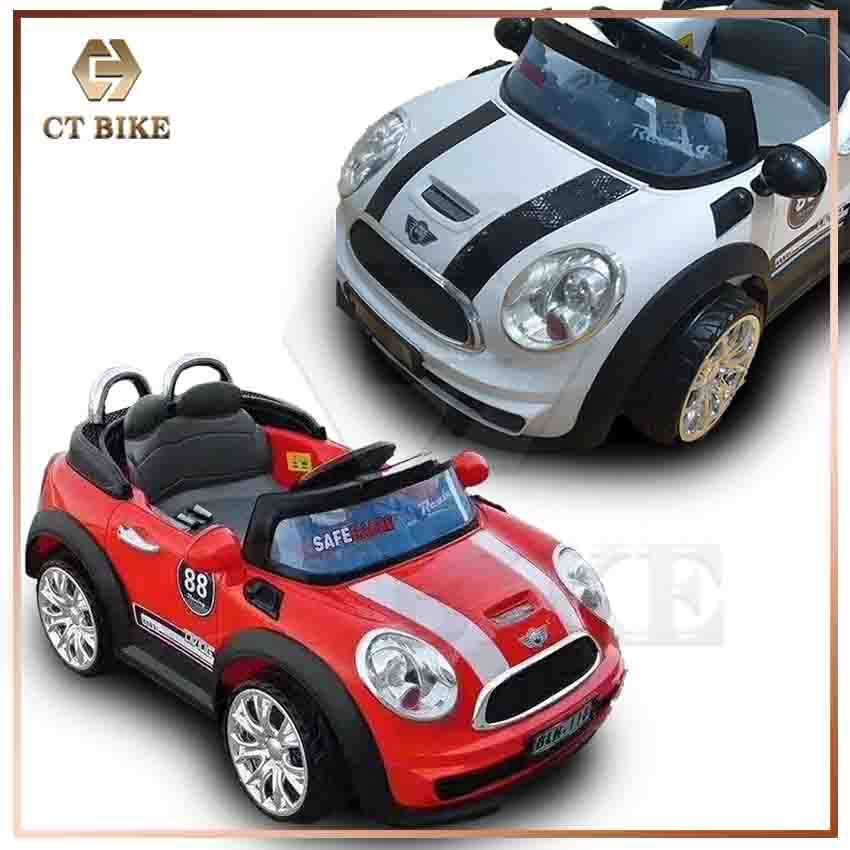 Kids Ride On 12v Mini Cooper Style Rechargeable Car Electric With Remote Control 3 Motors Shopee Malaysia