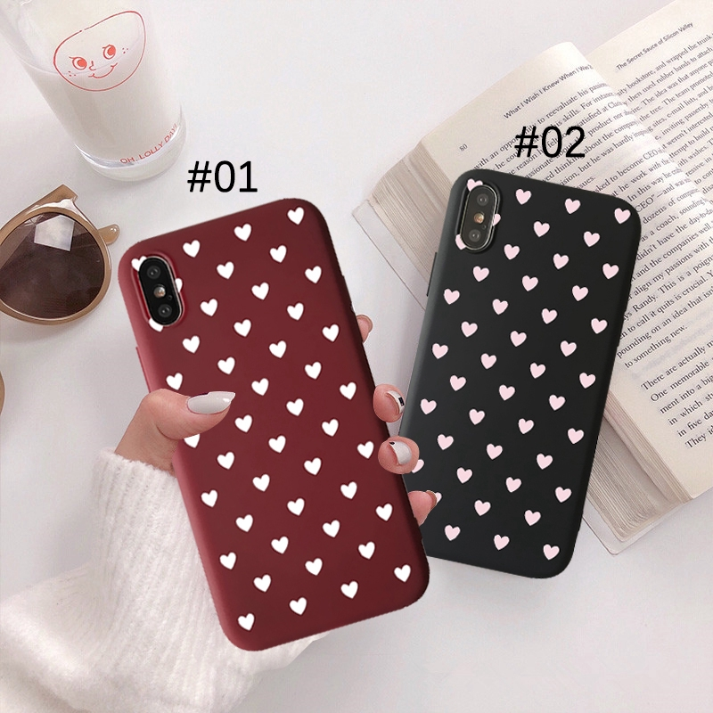 Love Case for iPhone 6 6s 6splus X XS 7 8 Plus Matte Silicone Back Asive Wire Harness Wrap on