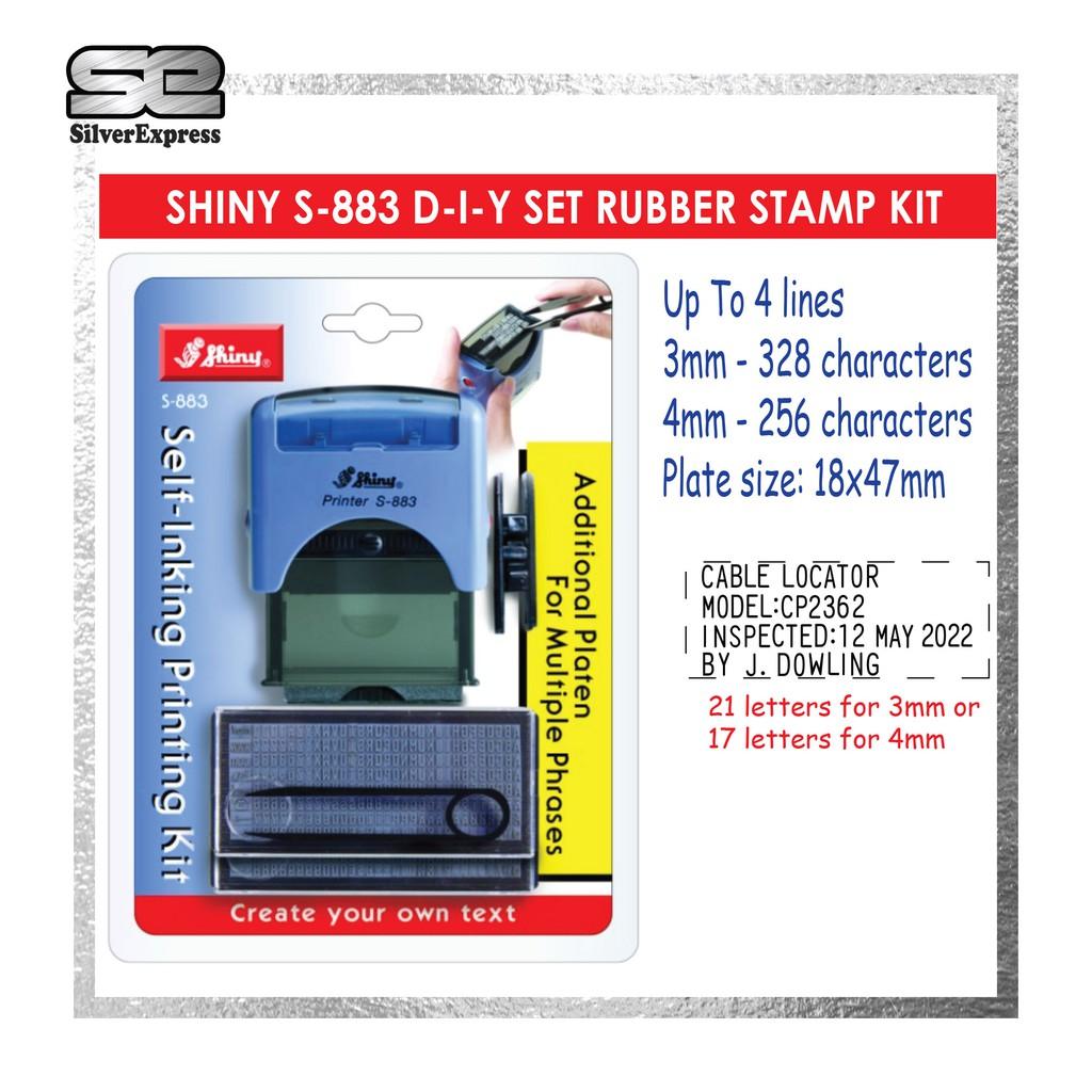SHINY DIY SET S-882 SELF INKING RUBBER STAMP KIT / RUBBER STAMP / DIY SET / INSTANT STAMP / SHINY / RUBBER STAMP DIY SET