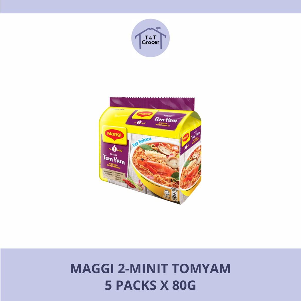 Maggi 2-Minit Tom Yam [5x80g]