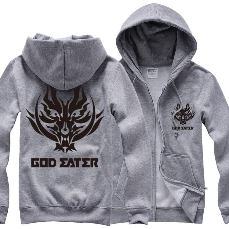 Winter Coat God Eater Thicken Jacket Anime Hoodie Cosplay Sweater JP Unisex