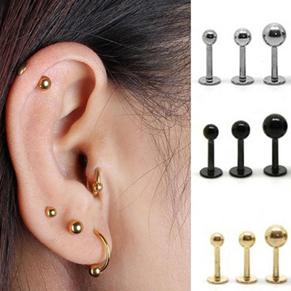 Women Ear Cartilage Helix Tragus Stud Earring Bar Piercing