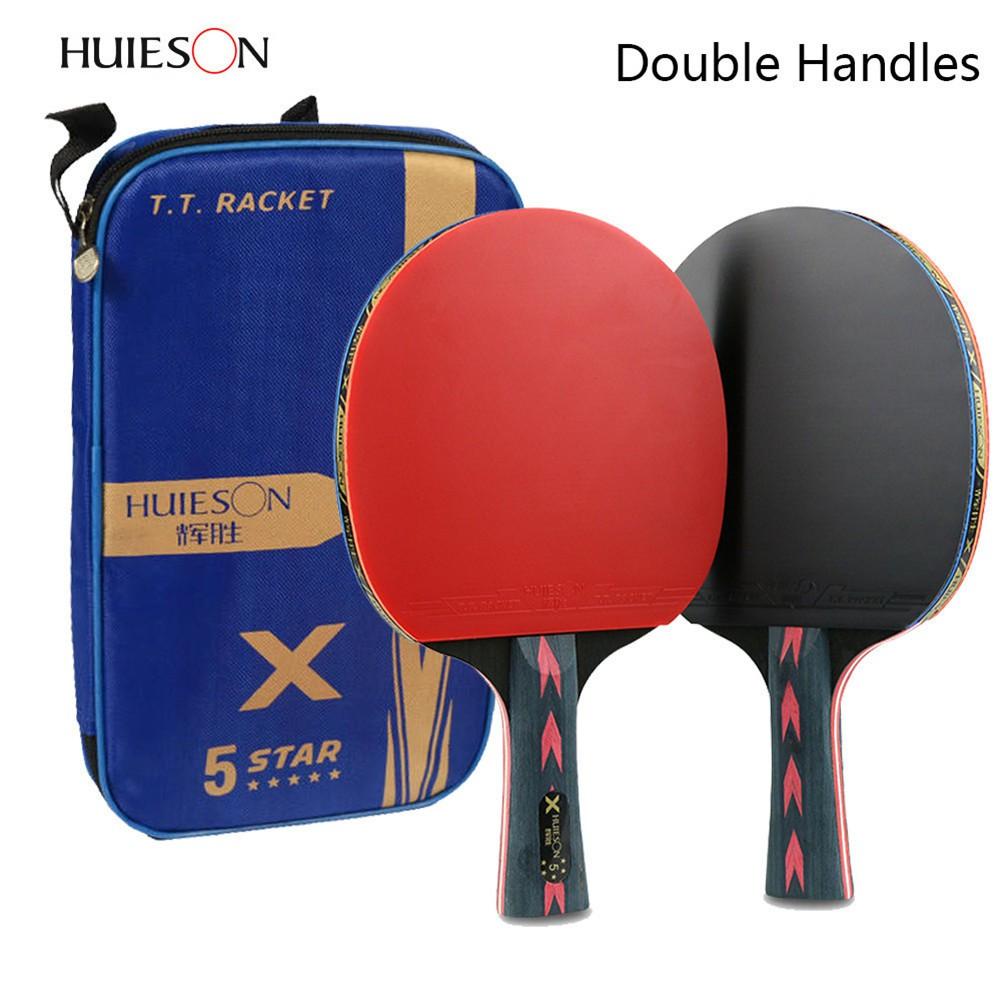 Huieson 2Pcs 5 Star Table Tennis Racket Set Lightweight Ping Pong Paddle Bat    Shopee Malaysia 85fd0c8766