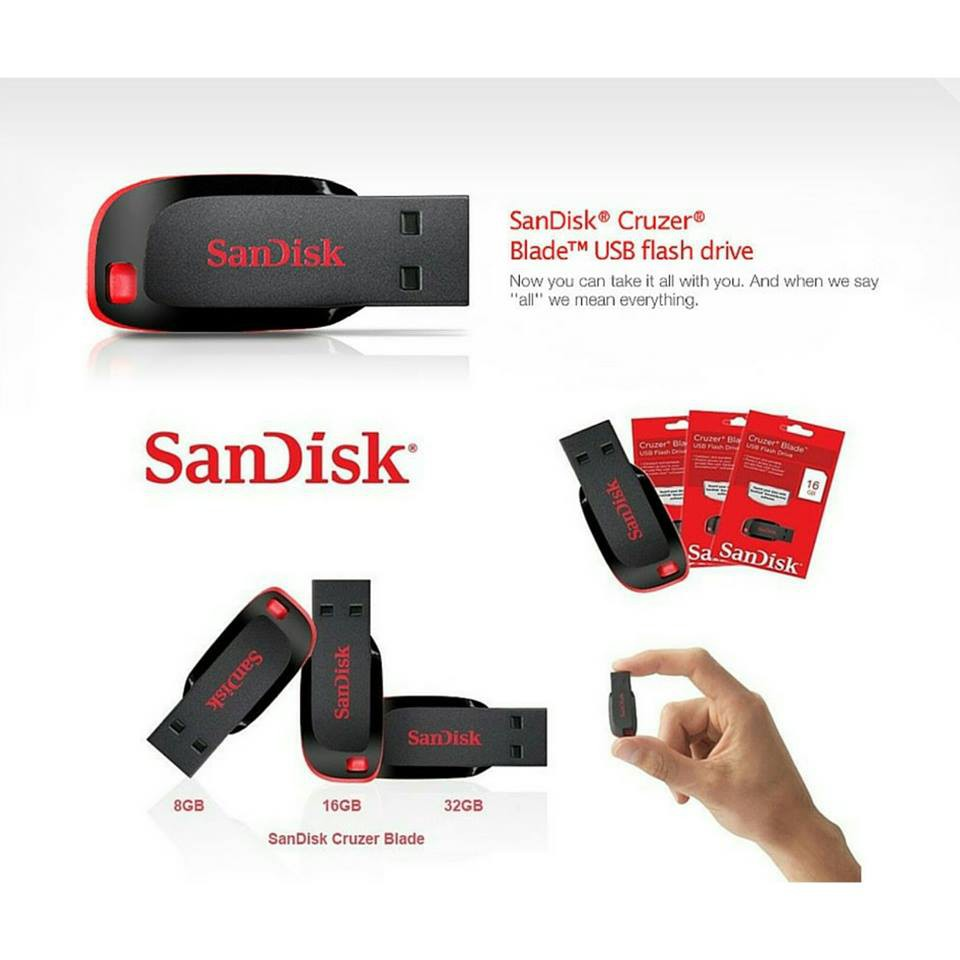 Sandisk Cruzer Blade Usb Flash Drive Pendrive 128gb Shopee Malaysia Flashdisk 16gb Original Cz50
