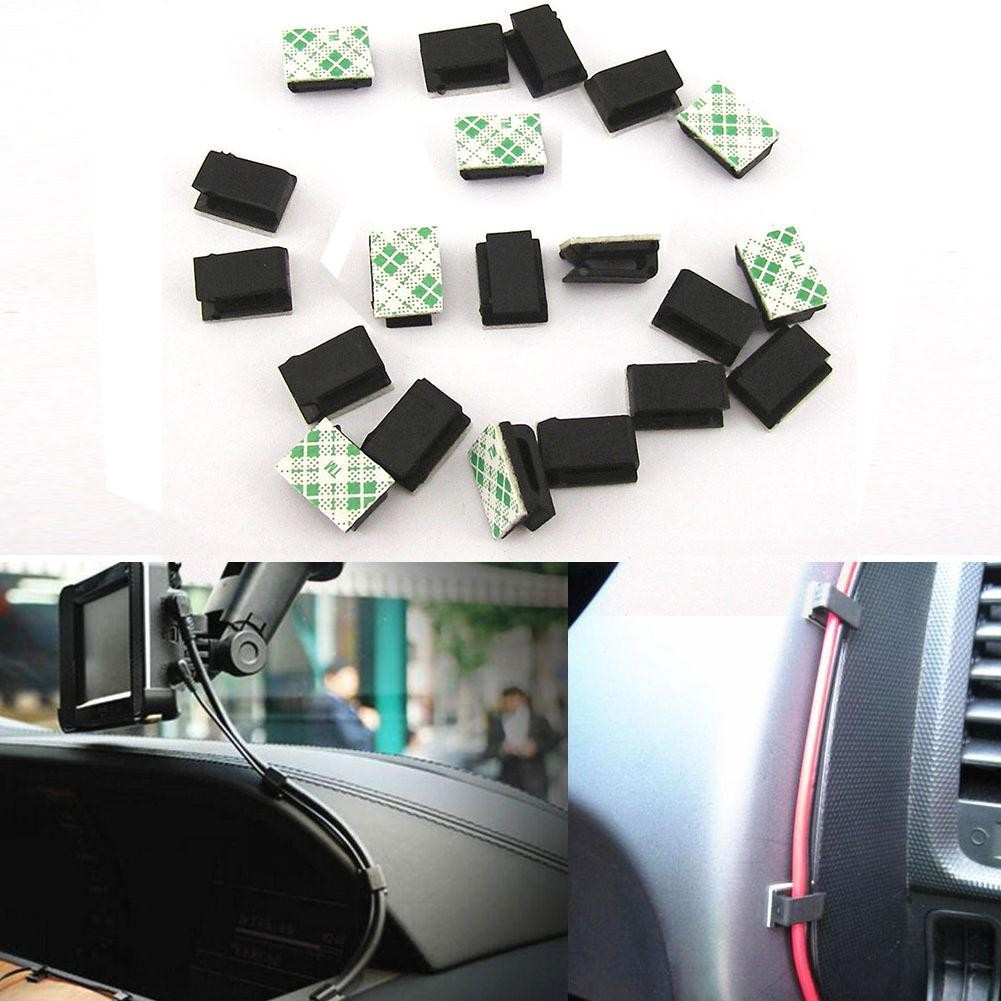 8x Cable Holder for Car Headphones USB Self Adhesive Stickers Clips for BMW F10