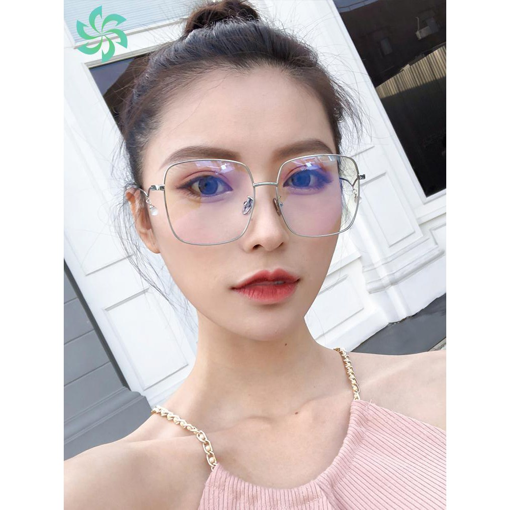 Anti-Blu-ray radiation glasses trend flat mirror no degree personality men and women with the same gold