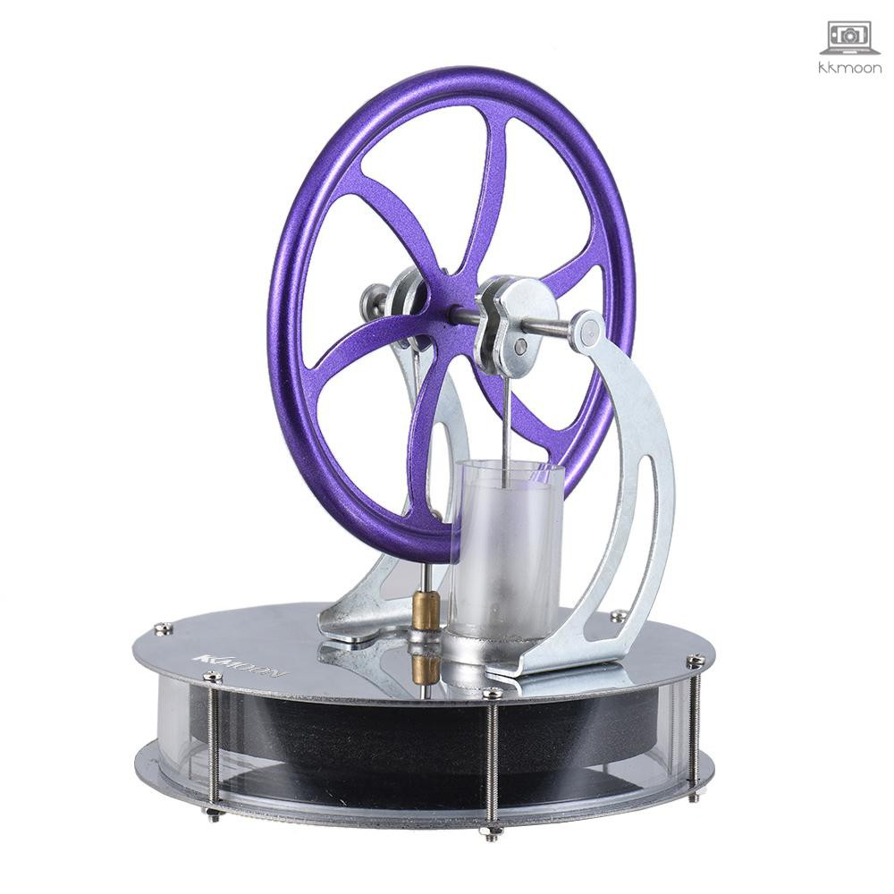 Low Temperature Stirling Engine Motor Model Heat Steam Education Toy DIY Kit for Educational School Student Kids Purple