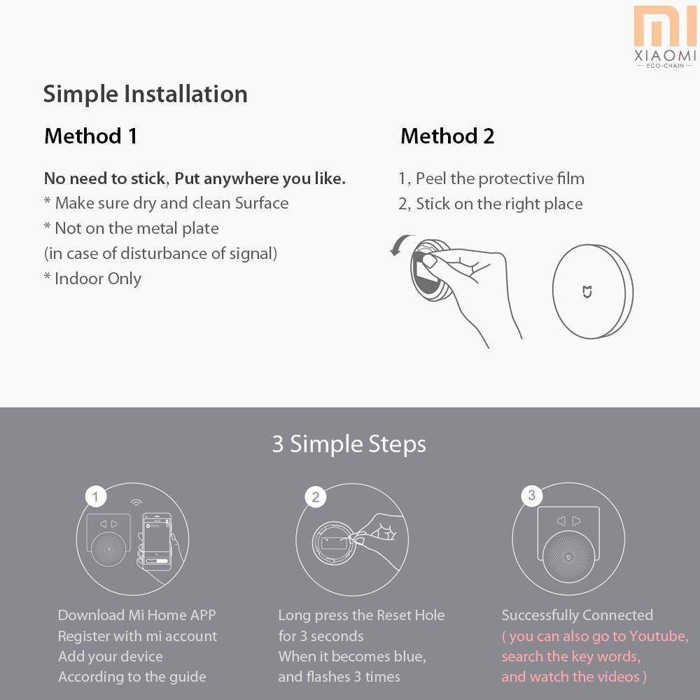 Original Xiaomi Mijia Wireless Switch House Control Center Intelligent  Multifunc