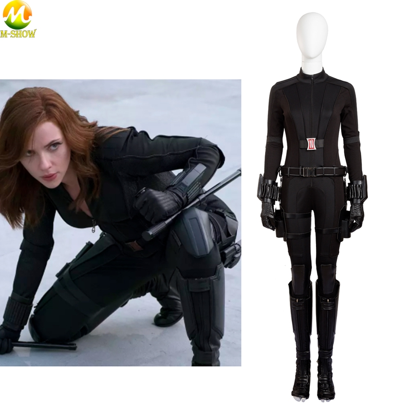Movie Cosplay Costume Black Widow Costume Halloween Outfit Custom For Women Jumpsuit Superhero Cosplay Fancy Costume