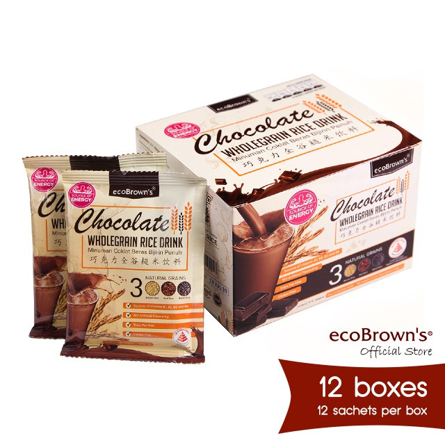ecoBrown's Chocolate Beverage (Energy) x12