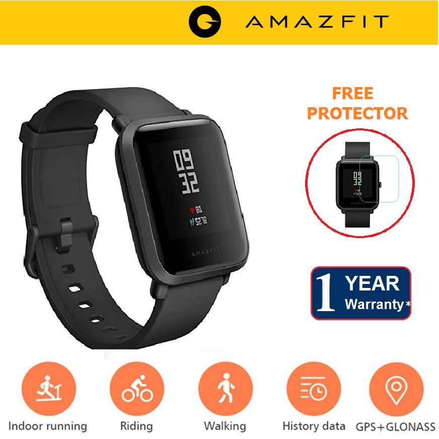 [Amazfit Malaysia] English Version XiaoMi Huami Amazfit Bip Smart Watch  Android
