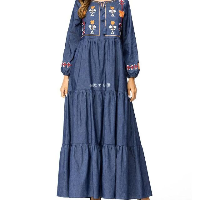 e67ff9f561 denim dress - Muslimah Jubah Prices and Promotions - Muslim Fashion Feb  2019