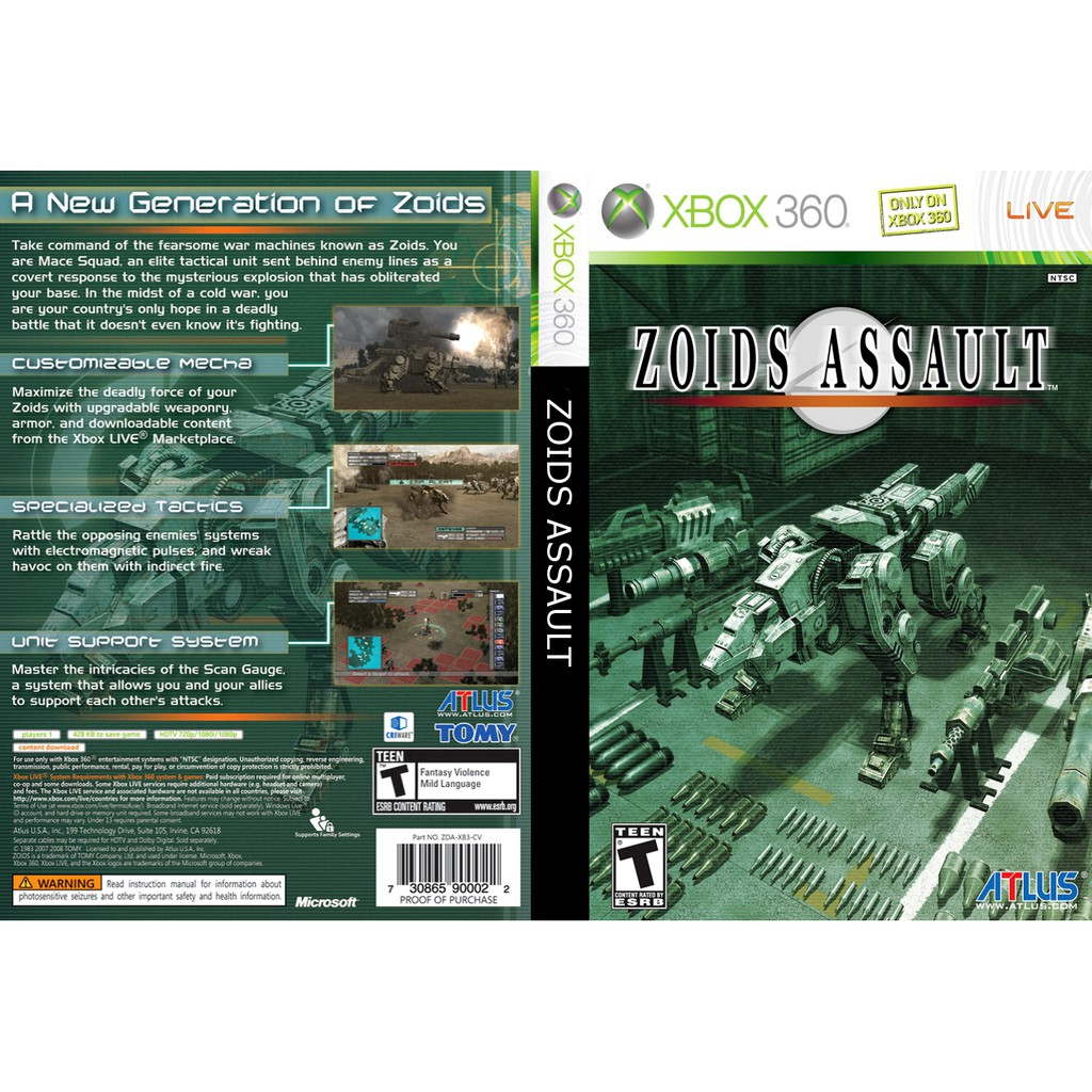 XBOX 360 Game Zoids Assault