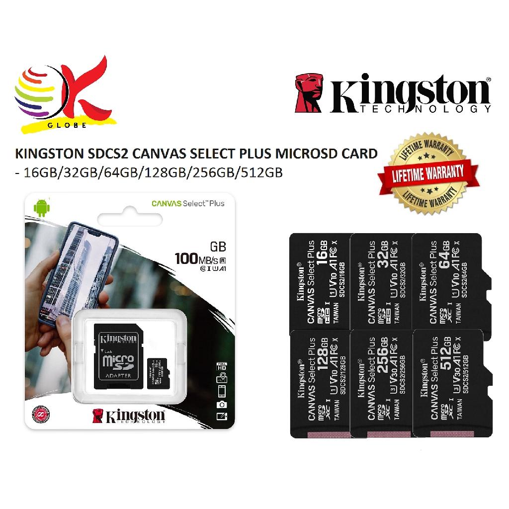 KINGSTON SDCS2 CANVAS SELECT PLUS MICRO SD MEMORY CARD