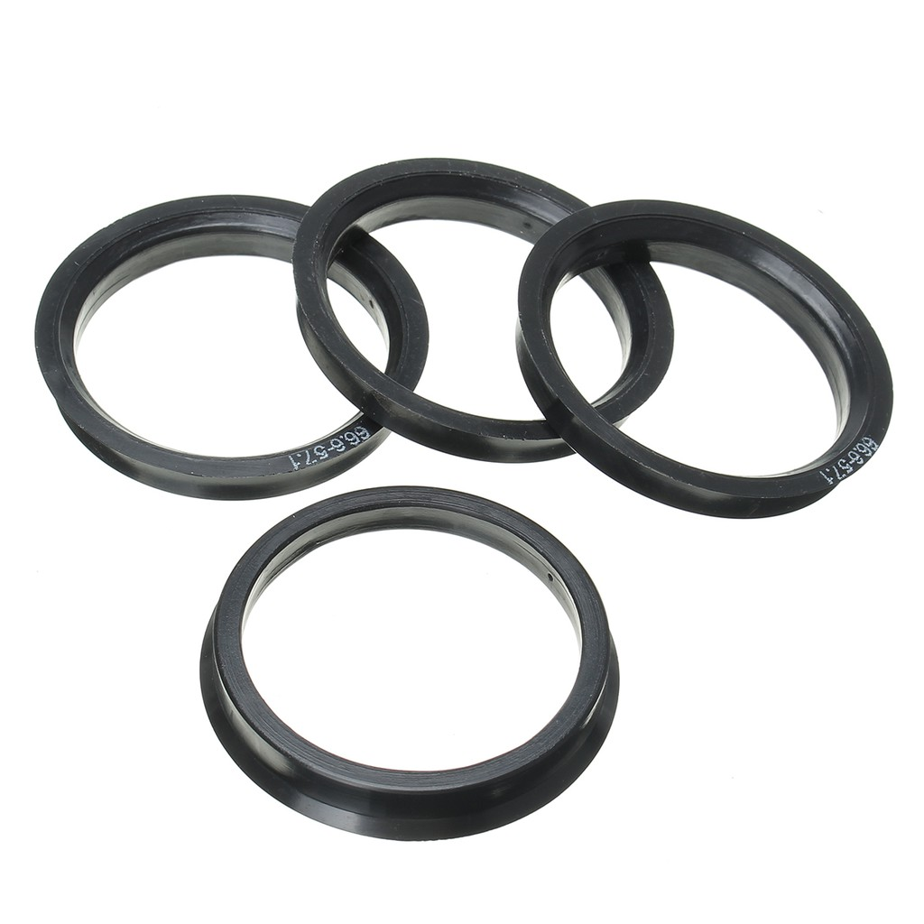 4 Wheel Spacer Hub Spigot Rings Hub Centric Rings 66.6 to 57.1mm Fit for VW Audi