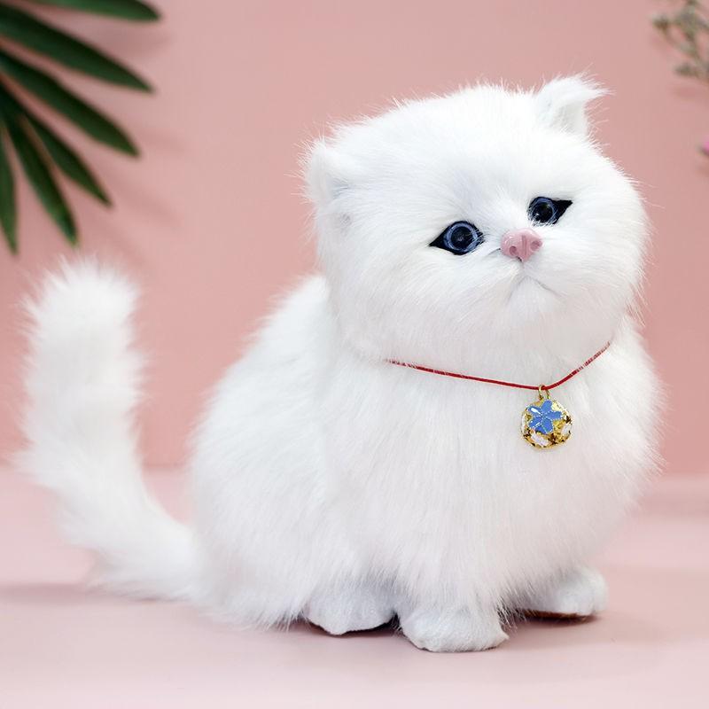 Akan Memanggil Simulasi Mainan Kucing Mewah Kucing Palsu Boneka Comel Haiwan Model Anak Perempuan Anak Hadiah Ulang Tahun Shopee Malaysia