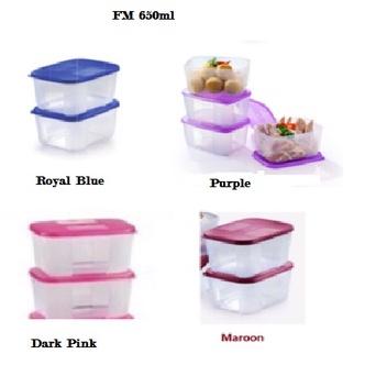 Tupperware: Freezermate 650ml (1)/(2)/(4) Dark Pink/Purple.Royal Blue/Maroon