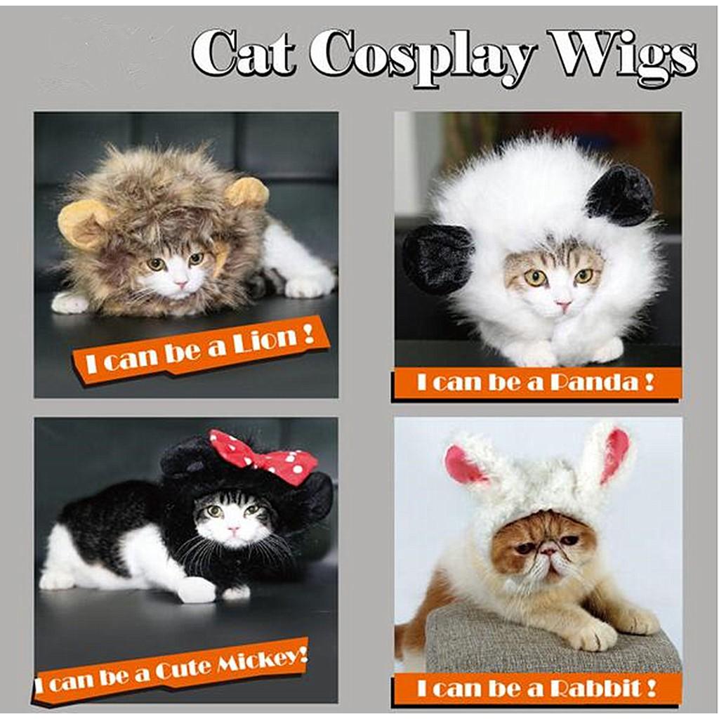 b1f2d4f7d ProductImage. ProductImage. Cat Lion Panda Mickey Mane Wig Cat Costume Hat  Hair Cat Pet Puppy ...