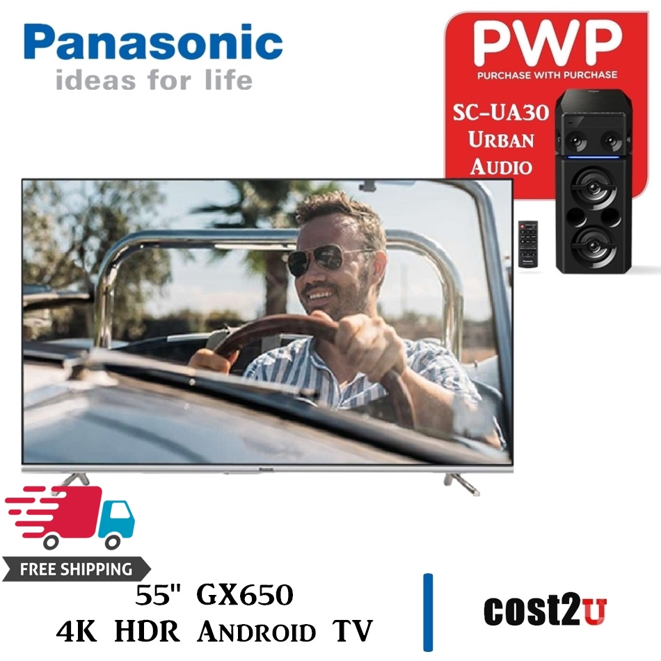 "Panasonic 55"" GX650 4K HDR Android TV with Google Assistant & Chromecast | TH-55GX650K ,TH55GX650K | SCUA-30"