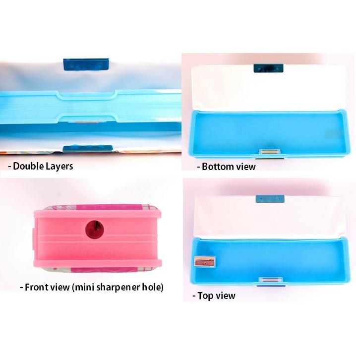 Simple Magnet Cover Pencil Box Case Type B Doraemon/ Frozen/ Pony/ Spiderman