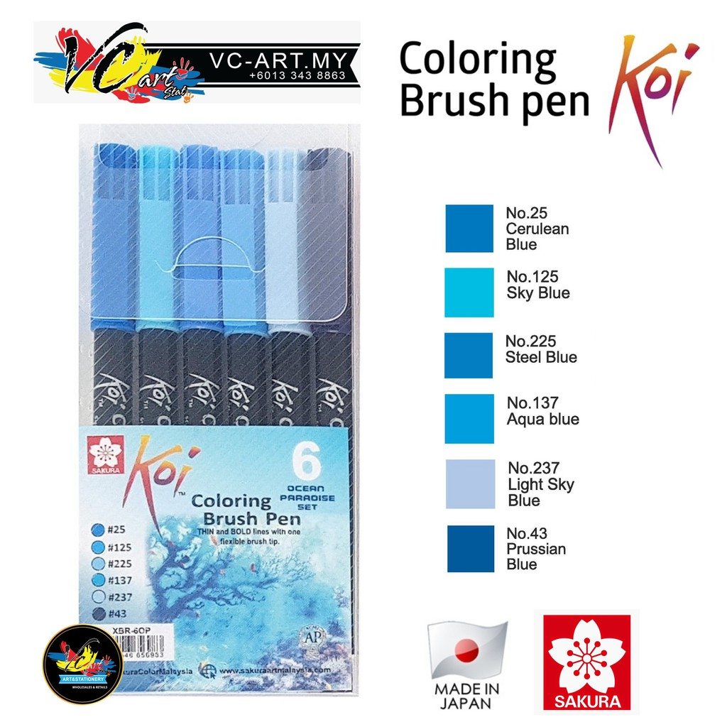 Sakura Koi Coloring Brush Pen - List 3/3 | Shopee Malaysia