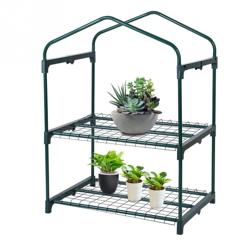 69 X 49 X 126cm 4 Tier Mini Greenhouse Iron Stands Shelves Garden Balconies Patios Decor Garden Tool Fine Quality Home & Garden
