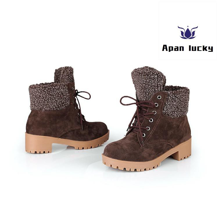 100% genuine price reduced limited sale 【AP】New Winter Warm Boots Comfortable Snow Boots Women Lace Up Shoes