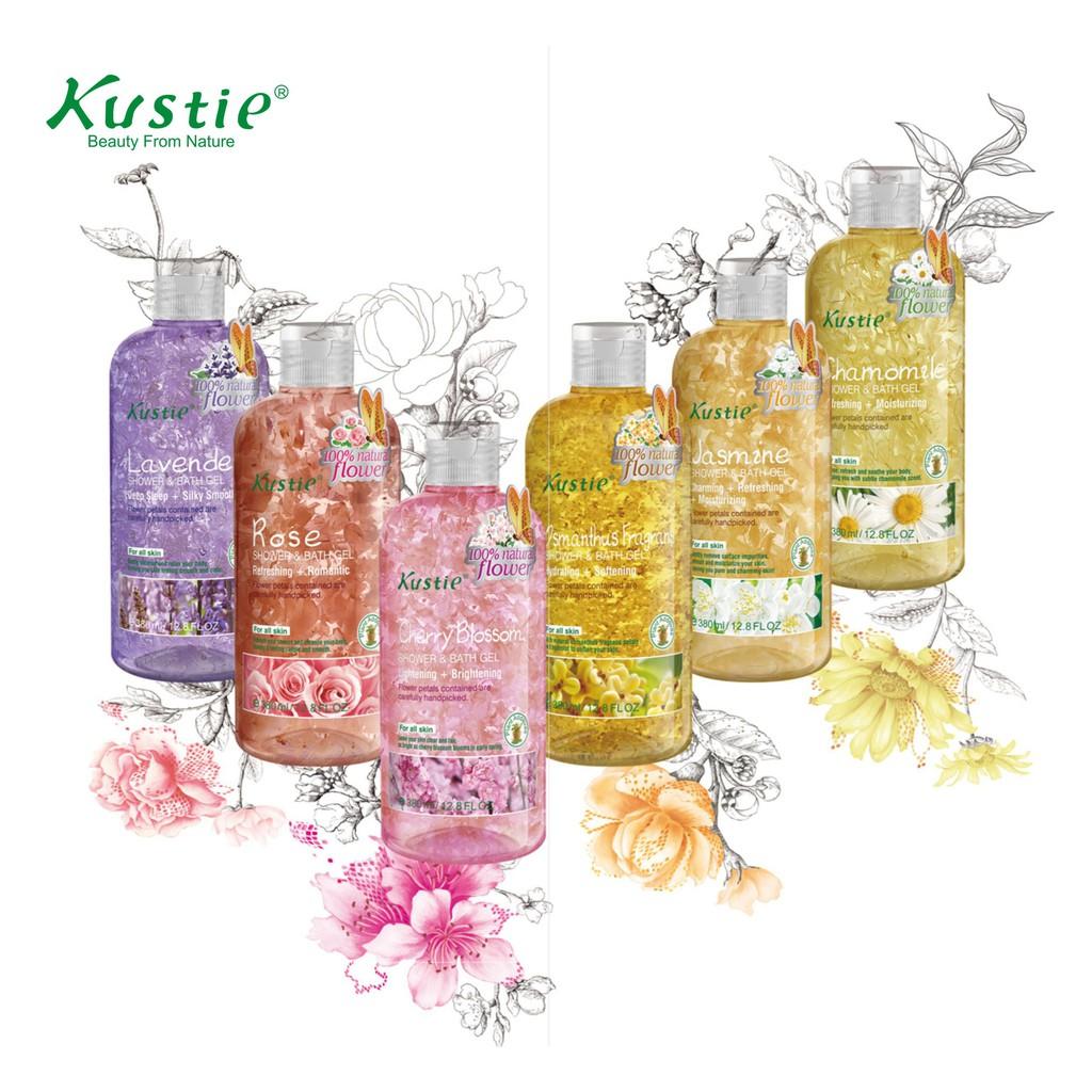 Kustie Flower Petals Shower Bath Gel 蔻斯汀花瓣沐浴露 (220ml)
