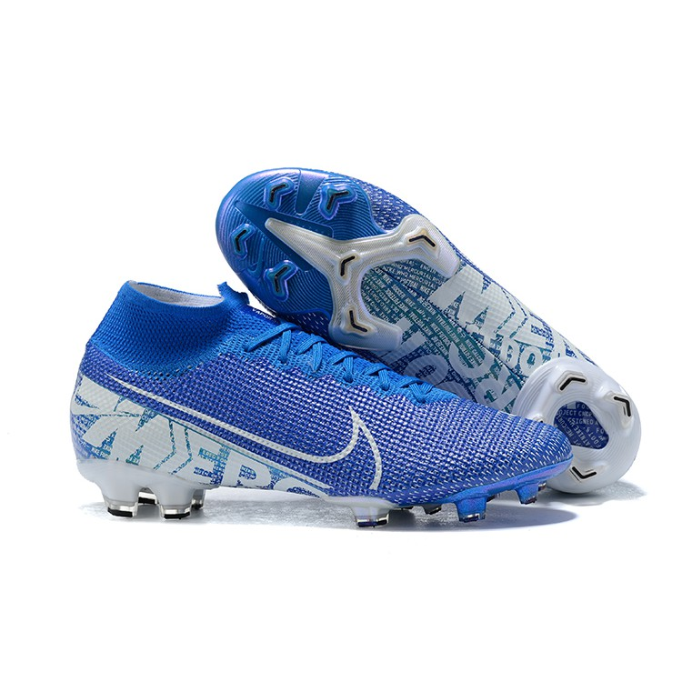 reputable site 7e6c5 faeee Original 2019 Flyknit 360 NIKE Mercurial Superfly VII 360 Elite Mens  training Football Shoes Soccer Boot