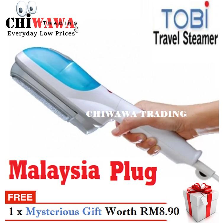 【 Malaysia Plug】TOBI Travel Steamer Brush Handheld Electric Garment Steam Clothes Iron / Seterika Baju