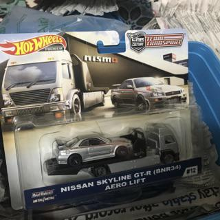 Nissan Skyline Gt-R R34 FLF56-956E Hot Wheels 1:64 Team Transport Aero Lift W