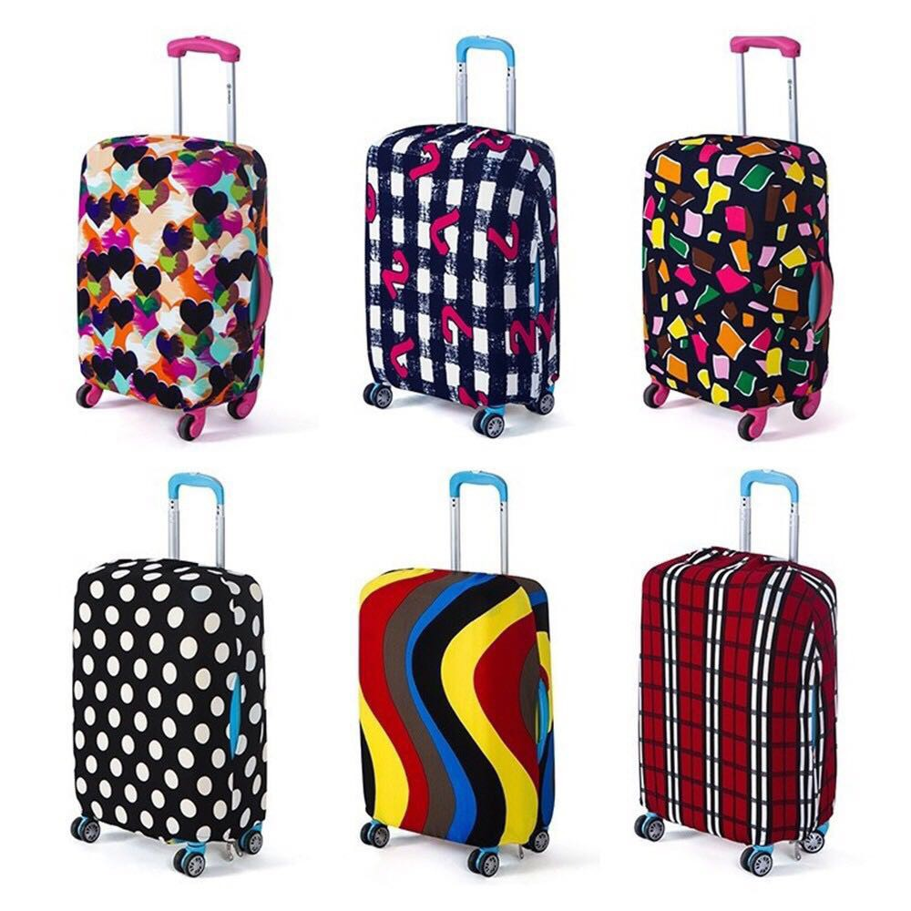 22-24 Luggage Cover DustproofTravel Luggage Protector Anti-scratch Baggage Cover Protector Elastic Baggage Covers For 18 To 32 Inch Luggage Luggage protector Color : Red , Size : M