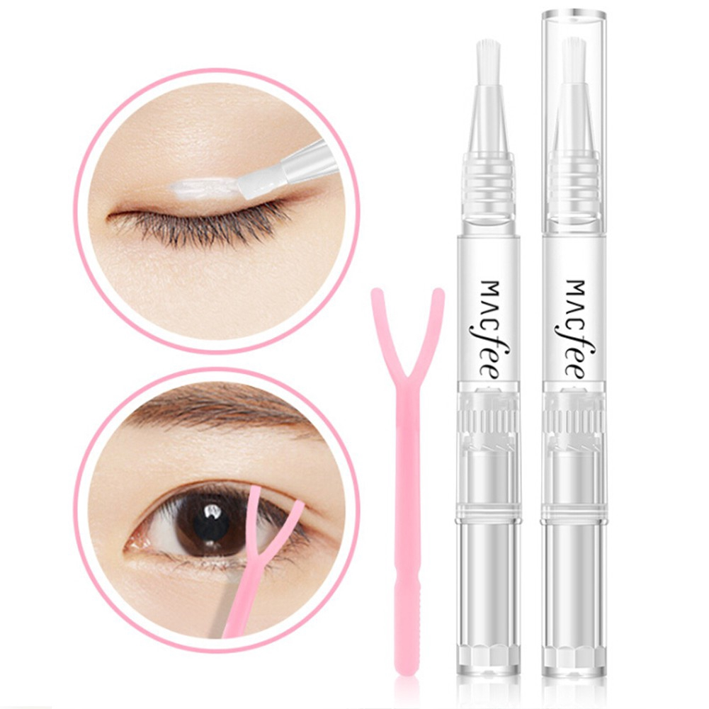 Macfee 1pcs Double Eyelid Styling Adhesive Waterproof False Eyelash Glue 3ml